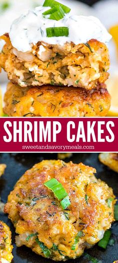 Shrimp Cakes With Lemon Aioli Recipe – Sweet and Savory Meals Shrimp Cakes are juicy and flavorful, spiked with fresh dill, lemon and smoked paprika, and served with the most amazing mayo based dipping sauce. Shrimp Cakes, Appetizers For A Crowd, Seafood Appetizers, Appetizer Recipes, Dinner Recipes, Seafood Dishes, Gourmet Recipes, Cooking Recipes, Healthy Recipes