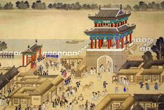 "Korean Documentary Painting - ""Celebration at Yeon-gwang Pavilion"""