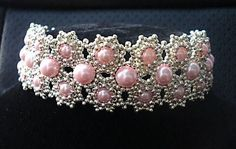 Seed beads and pink pearl beads bracelet. Craft ideas from LC.Pandahall.com