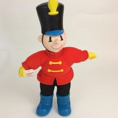Vtg Kay Bee K B Soldier Mascot Advertising Promo Character Plush Doll Figure #KayBeeToyStore