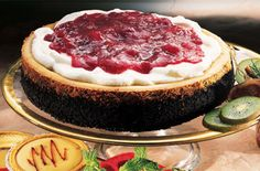 Ocean Spray Chocolate Espresso Cheesecake with Cranberry Topping