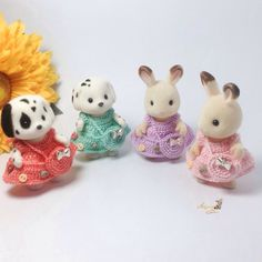 Calico Critters/ Sylvanian Families Crochet Clothes/ Outfit for Sister Made to Order #4001 by AmigurumiByMe on Etsy https://www.etsy.com/listing/258963144/calico-critters-sylvanian-families