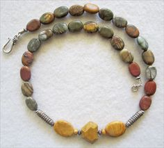 PicassoJasper & Moukaite and African Yellowstone Necklace - pinned by pin4etsy.com