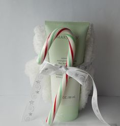 Mary Kay's Mint bliss energizing lotion for feet and legs gift set.  Set comes with a pair of warm and fuzzy socks and a candy cane! $12.  To order: www.marykay.com/nicolesarver.  You can order the Mint bliss lotion by itself or leave me a note with your order requesting this lovely gift set :)
