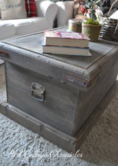 This DIY trunk was inspired by the Rebecca Trunk from Pottery Barn and was build for a fraction of the cost!