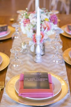 Pretty in pink table: http://www.stylemepretty.com/2014/02/24/vermont-wedding-at-ohana-family-camp/ | Photography: Lindsay Flanagan - http://www.lindsayflanagan.com/