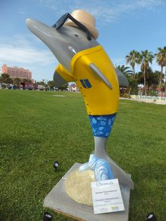 Sponsor:  Frenchy's Restaurants  Artist:  Kumpa Tawornprom  One of 50 themed dolphins on display at Pier 60 park in #Clearwater until 9/4/12.  #ClearwatersDolphins