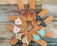 Check out our sandals selection for the very best in unique or custom, handmade pieces from our shops. Bride Flip Flops, Bridesmaid Flip Flops, Bridesmaid Sandals, Bridesmaid Gifts, Half Sleeve Wedding Dress, Bride Slippers, Personalized Flip Flops, Leopard Sandals, Slide Sandals