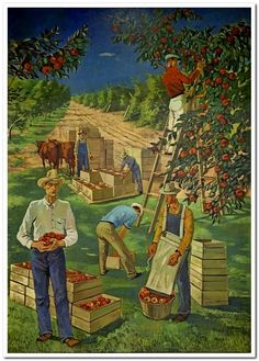 "Mural ""Apple Industry,"" by Nicolai Cikovsky at the Department of Interior Building, Washington, D.C."