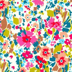 Garnett Magenta Teal Liberty Lifestyle Fabric Bloomsbury Gardens Collection One Yard. $22,00, via Etsy.