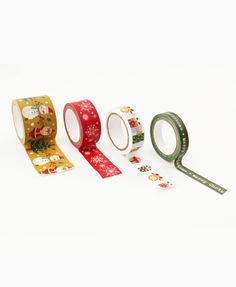 This set of 4 Christmas themed washi tape are a whimsical touch on your craft or DIY projects!