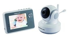Foscam FBM3501 Digital Video Baby Monitor - 2.4 Ghz with Pan/Tilt, Nightvision and Two-Way Audio/Video Camera with 3.5-Inch LCD (White/Gray)...