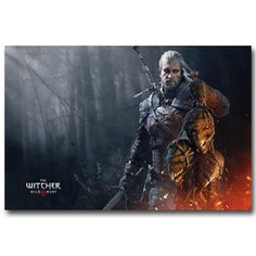 This amazing Witcher poster features Geralt and his trophies. Available in multiple sizes, this poster is printed stylish and high-quality silk fabric to create a long lasting and unique art piece. Great for any gaming room!   Silk fabric posters have less glare than paper, which makes images and artwork on the poster easier to see and easier to hang lights nearby to prevent glare.