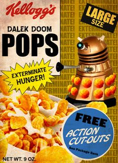 MINION FACTORY: Dalek Doom Pops cereal