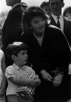 Jacqueline Kennedy and John F. Kennedy Jr.