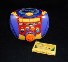 Crayola 2000 Karaoke Cassette Tape Player w/Tape #Crayola