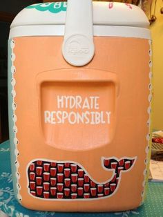Hydrate responsibly! Vineyard Vines fraternity cooler.