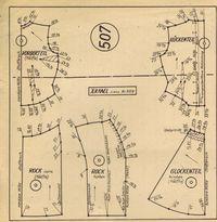 FREE Vintage 1940s Sewing Patterns | German Die Alma Mode Winter 1947 | 1948- 507