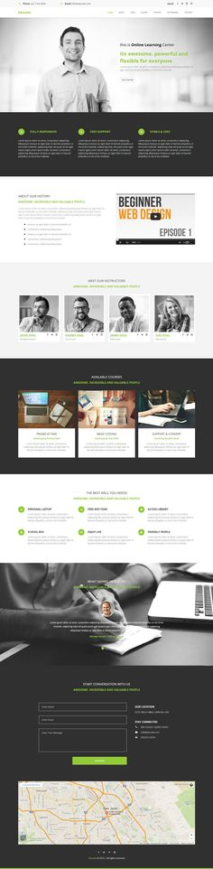 Educate - Education, Course, Adobe Muse template available at #themeforest #envato by rometheme.net