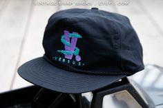 throwback neon Versus logo vintage snapback hat