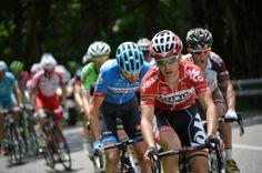 Videos  Photos - Critérium du Dauphiné 2014 - CDD 2014 - Etape 7 - Ville-la-Grand / Finhaut-Emosson - 14/06/2014 - Tony GALLOPIN (LTB) en tête du groupe des échappés © / B.Papon