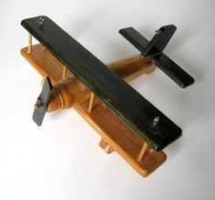 Hand made vintage wooden Airplane Toy Kids by jewelryandthings2