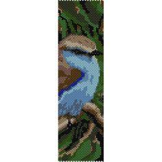 African Bird Peyote Bead Pattern, Bracelet Cuff, Bookmark, Seed Beading Pattern Miyuki Delica Size 11 Beads - PDF Instant Download by SmartArtsSupply on Etsy