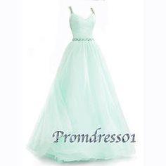 #promdress prom dresses - 2015 new handmade beaded straps floor-length prom dress for teens, custom made ball gown, evening dress #coniefox #2016prom
