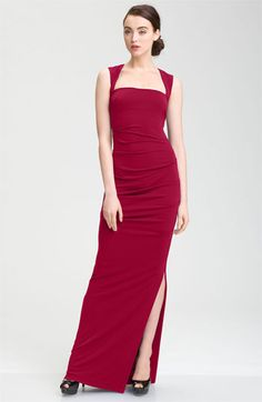 Nicole Miller Open Back Jersey Gown available at #Nordstrom 1300USD approx