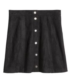 Check this out! Short, A-line skirt in imitation suede. Unlined. - Visit hm.com to see more.