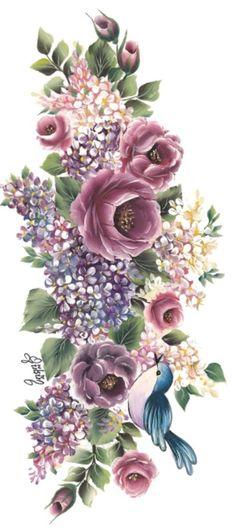 vintage bouquets - (page - vintage Vintage Cards, Vintage Paper, Vintage Images, Decoupage Vintage, Flower Images, Flower Art, Vintage Flowers, Vintage Floral, Vintage Flower Prints