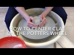 Centering clay / how to center on a pottery wheel tips demo : Pottery Making. Part 1. - YouTube