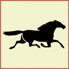 Running Horse Stencil | Gorgeous DIY primitive home decor and crafting stencil from The Artful Stencil! US Shipping in only 5 days. We ship all over the world.