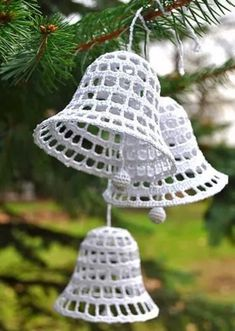 Best 12 Christmas tree Home decoration Crochet Ornament knitting tree Christmas gift white knit wood little tree Holiday decor Are you ready to get into the New Year spirit? This unusual Christmas tree is perfect for your Christmas table, for the chi Crochet Christmas Decorations, Christmas Crochet Patterns, Crochet Decoration, Crochet Ornaments, Holiday Crochet, Unusual Christmas Trees, Christmas Bells, Christmas Angels, Christmas Crafts