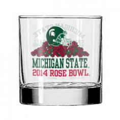 MSU 14 oz Rose Bowl Rocks Glass - Rory