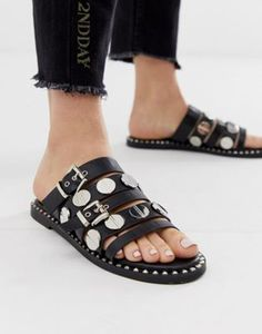 ASOS DESIGN Fear studded sandals