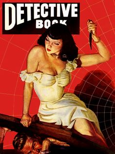 Detective Book Magazine, Winter 1949. Cover Art by George Gross.