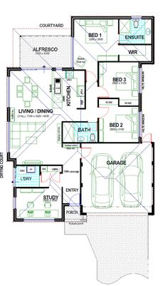 The Wave - Perth's Choice For First Home Buyers Round House Plans, Small Modern House Plans, Free House Plans, Small House Floor Plans, Beautiful House Plans, Home Design Floor Plans, Family House Plans, Contemporary House Plans, Bungalow Floor Plans