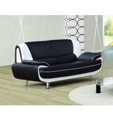 Canapé design simili cuir 3 places