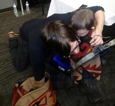 It makes my heart happy to see pics of Norman with children - how sweet is this?