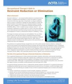 Occupational Therapy's Role in Restraint Reduction or Elimination Pediatric Occupational Therapy, Mental Health Activities, Top Blogs, Gifts For Photographers, Self Control, Autism Spectrum, Pediatrics, Helpful Hints