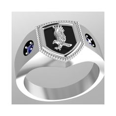 Harry Potter Inspired Ravenclaw House Ring found on Polyvore featuring polyvore, women's fashion, jewelry, rings, harry potter, ravenclaw, blue jewelry, bronze ring, blue ring and bronze jewelry