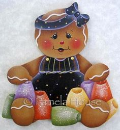 The Decorative Painting Store: Gumdrop Gingerbread Girl, Gingerbread