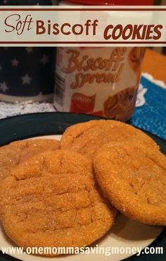 One Momma Saving Money: Soft Biscoff Cookies has egg but can substitute flax seed Biscoff Cookie Butter, Biscoff Cookies, Butter Cookies Recipe, Spice Cookies, Biscoff Biscuits, Anzac Biscuits, Drop Cookies, Xmas Cookies, Peanut Butter