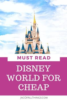Learn how we were able to visit Disney World for cheap! Our best tips and tricks to save money on your Disney World vacation and go on the trip of your dreams for less! Cheap Disney Vacation, Disney World Vacation Planning, Disneyland Vacation, Disney Planning, Disney Vacations, Disney Trips, Disney Travel, Family Vacations, Disney World Shows