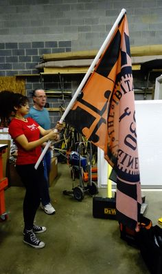 Proudly wavin' our Team 5830, The Irrational Engineers Flag! #frc5830 #team5830 #irrationalengineers #gotpi #outrageouslyorange