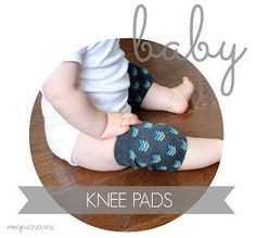 DIY baby knee pads | tutorial: useful for timber floorboards and crawling baby!