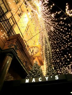 Have to go to the Macy's flagship store when they're all decorated for Xmas!