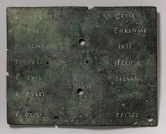 Military diploma [Roman] (23.160.32a,b) | Heilbrunn Timeline of Art History | The Metropolitan Museum of Art Roman History, Art History, Early Christian, Medieval Art, Pompeii, Ancient Rome, Roman Empire, Military, Metropolitan Museum