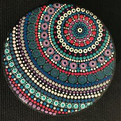 Hand Painted Mandala Stepping Stones